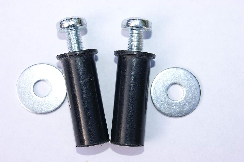 2 unidades fijaci/ón superior Extensi/ón para asiento del inodoro se ajusta al agujero de todos los inodoros