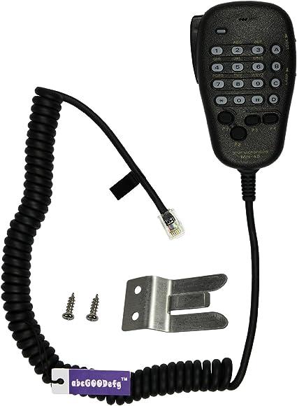 Noir C/âble Micro pour Yaesu MH-48A6J FT-7800 FT-8800 FT-8900 FT-7100M FT-2800M