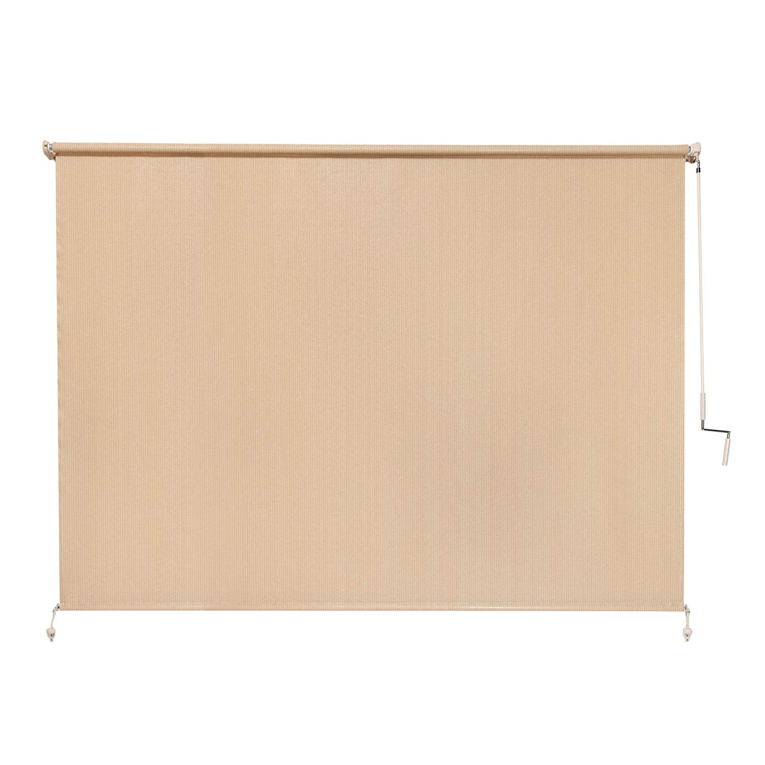 Coolaroo Exterior Roller Shade, Cordless Roller Shade with 90 UV Protection, No Valance, 8 W X 6 L , Southern Sunset