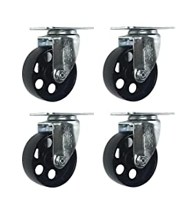 3 inch Swivel Steel Caster No Brake (4 Pack)