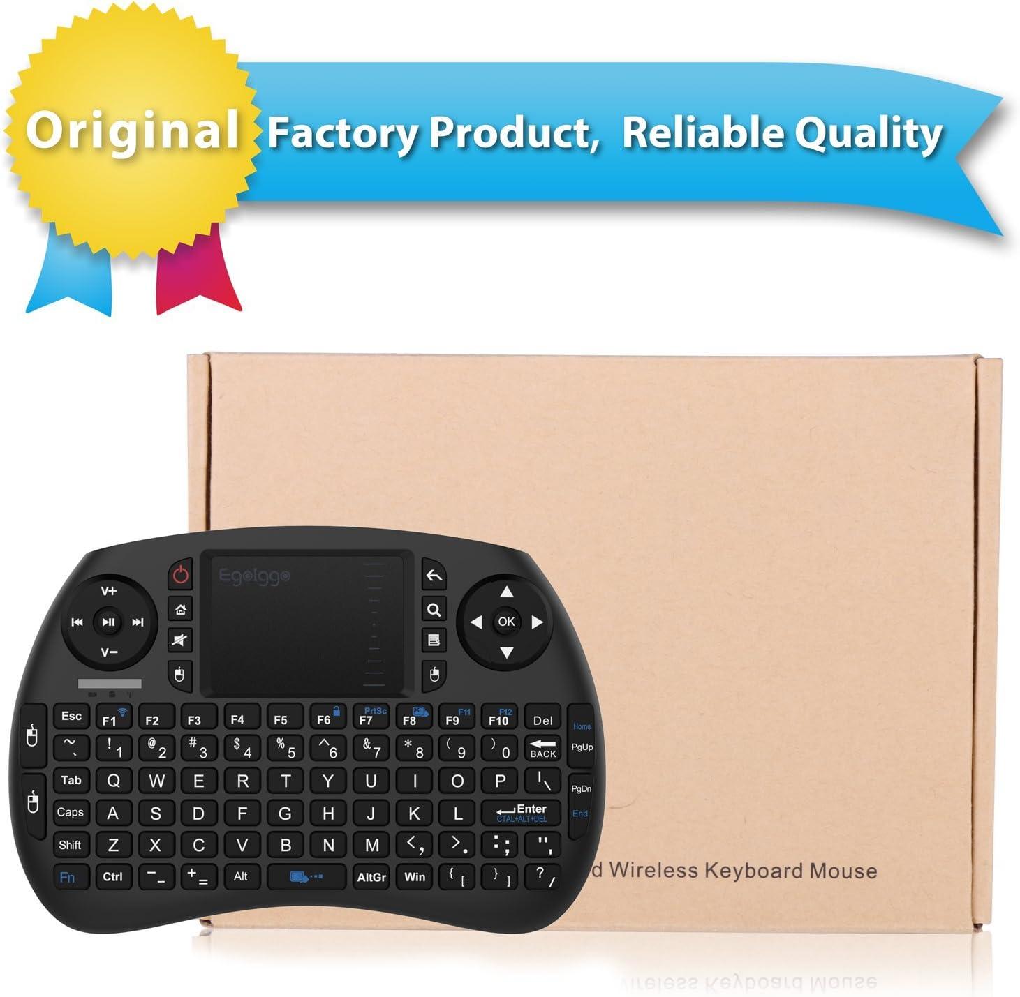 EgoIggo 2.4GHz Mini Teclado inalámbrico Touchpad ratón Compatible con Raspberry Pi Android Box,Google Box,Pad PC Smart TV Control Remoto (Negro): Amazon.es: Electrónica