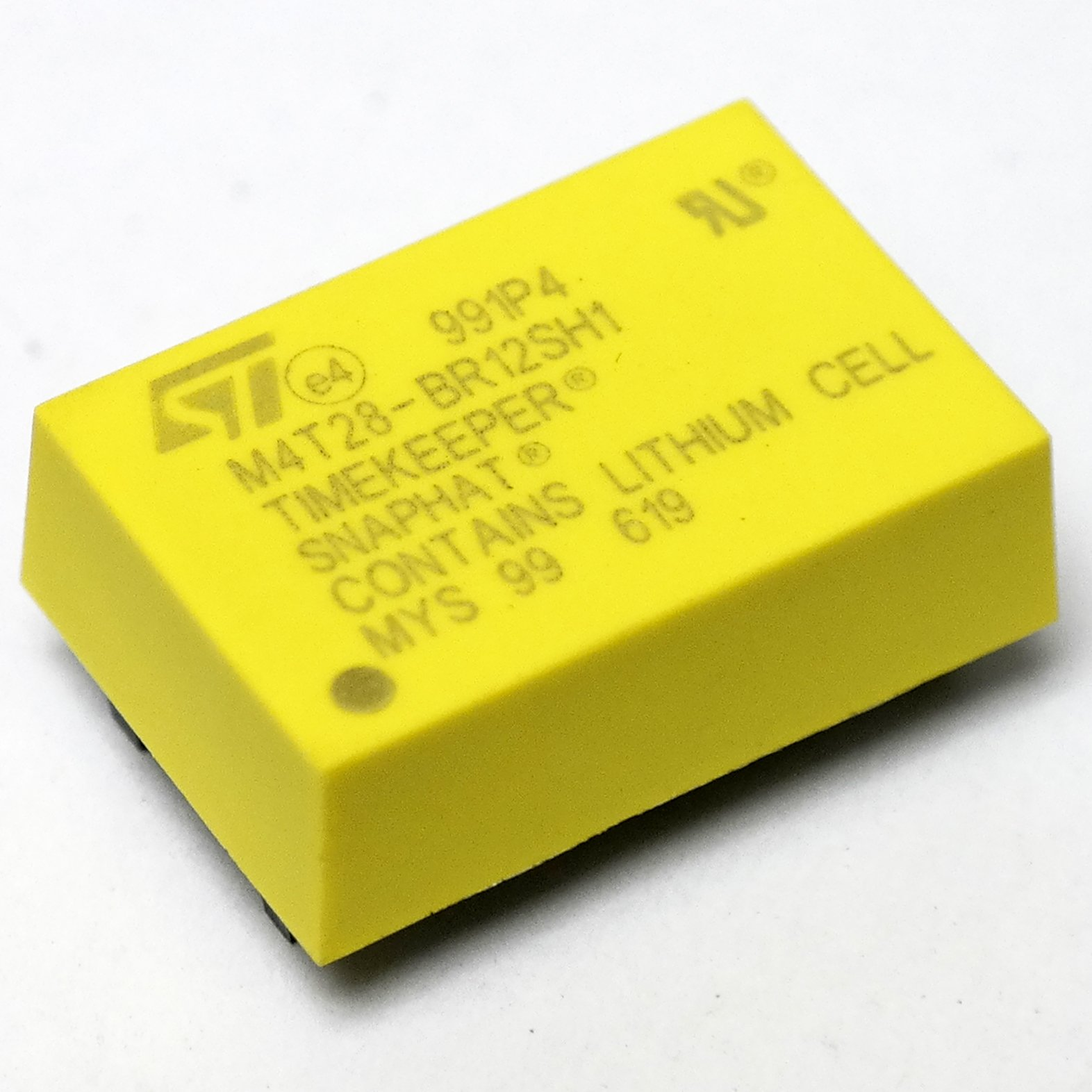 STMicroelectronics M4T28-BR12SH1 Battery Replaces, IC, BATTERY/CRYSTAL SNAPHAT, SNAPHAT-28, M4T32-BR12SH1