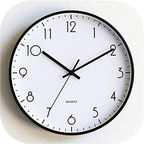 Amazon Com Nordic Modern Minimalist Wall Clock Personality Silent Watch Mechanism Wall Clocks Living Room Kitchen Creative Guess Watch Style1 12inch Home Kitchen