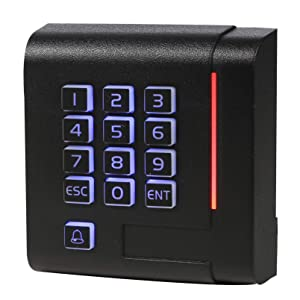 UHPPOTE 125KHz Wiegand 26/34 RFID EM ID Card Reader Keypad Connect for Access Control Board