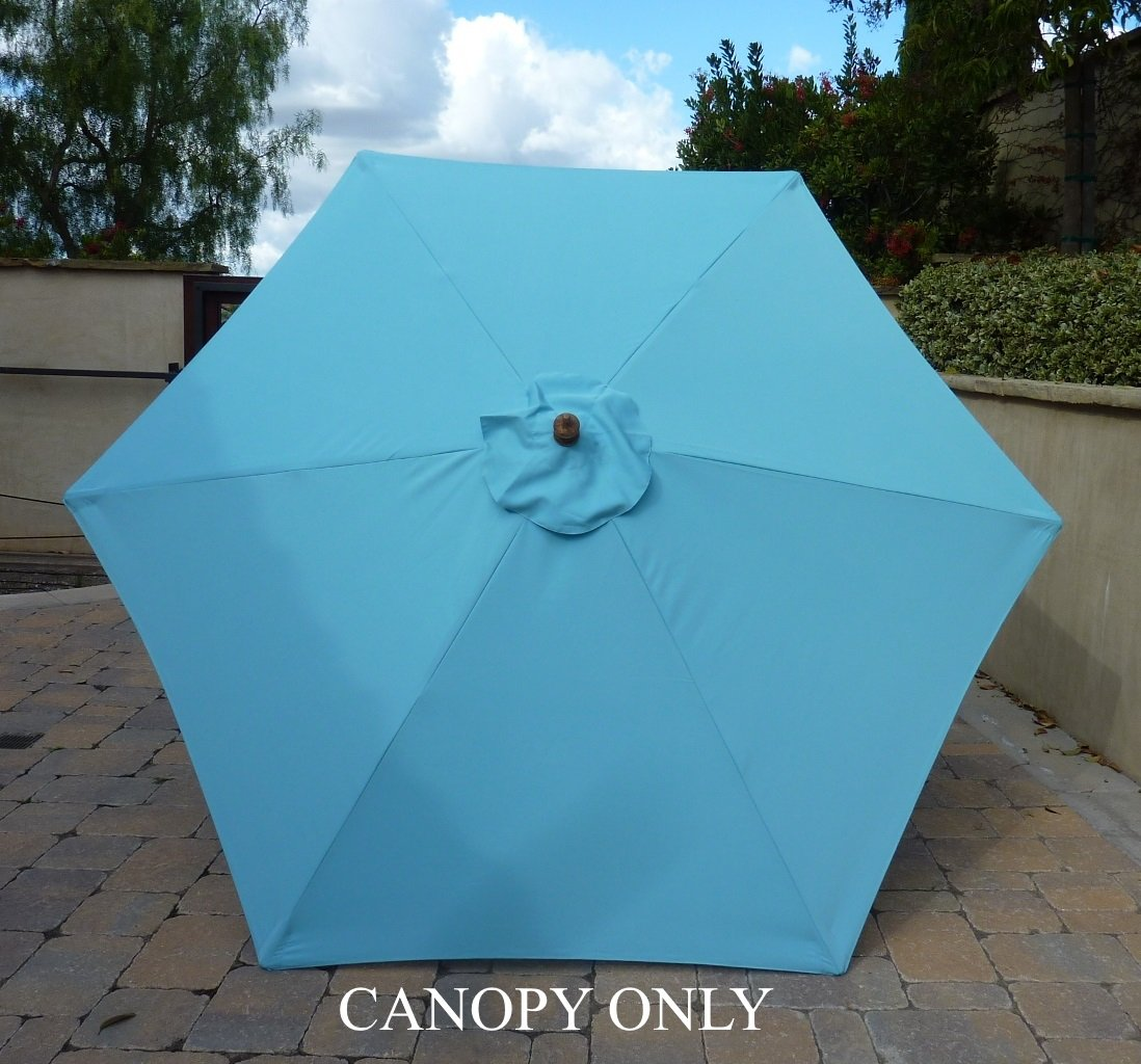 Amazon.com : 9ft Umbrella Replacement Canopy 6 Ribs In Light Blue (Canopy  Only) : Outdoor And Patio Furniture Accessories : Garden U0026 Outdoor
