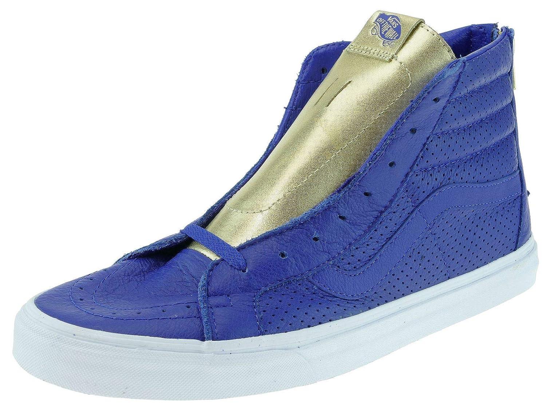 Vans Sk8 hi Reissue Zip, Sneaker Uomo Marrone, Blu (Gold