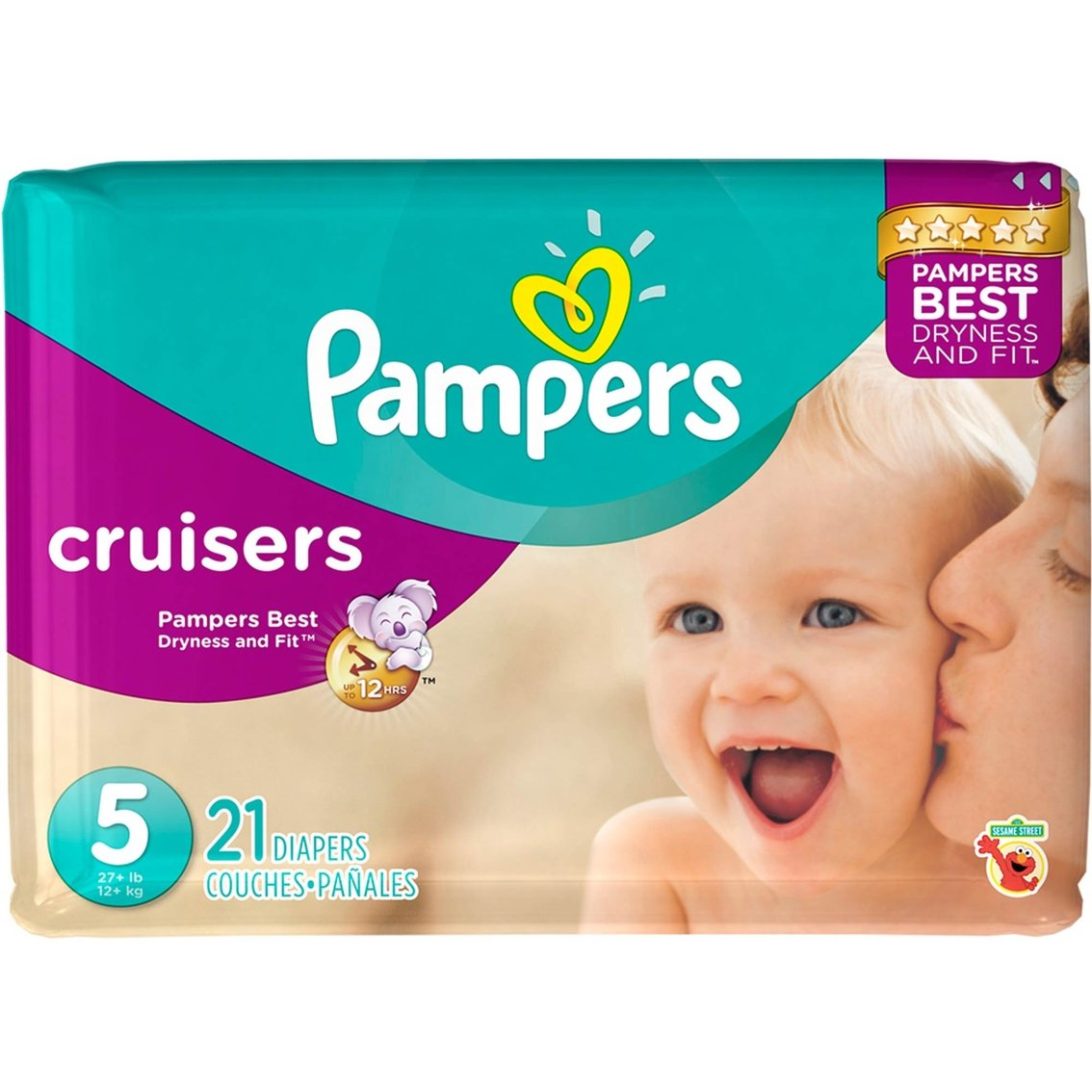 Amazon.com: Diaper / Baby Wipe Travel Pack | Includes Pampers Cruisers Size 5 (21 count) and Sensitive Wipes Resealable Container (18 count): Health ...