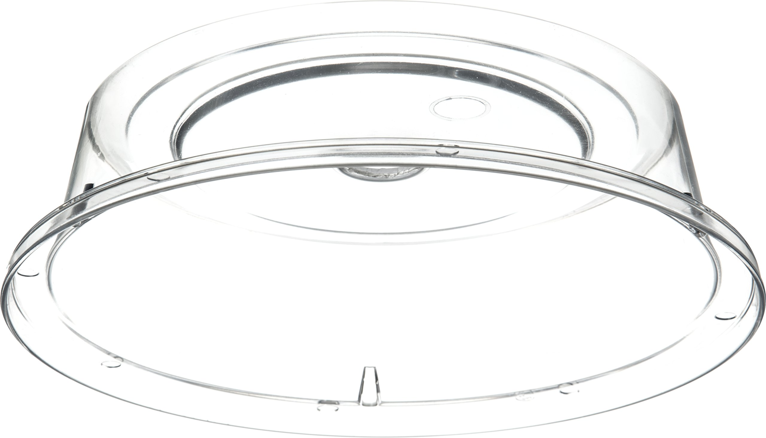 Carlisle 190007 Polycarbonate Plate Cover, 9.37'' Bottom Diameter x 2.56'' Height, Clear (Case of 12) by Carlisle (Image #4)