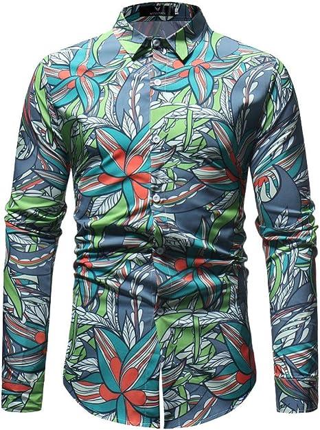 CHENS Camisa/Casual/Unisex/XL Hombres 3D Prinded Camisas Florales Moda para Hombre Camisas de Manga Larga Casual Top para Hombre de Negocios Ropa de Hombre más tamaño: Amazon.es: Deportes y aire libre