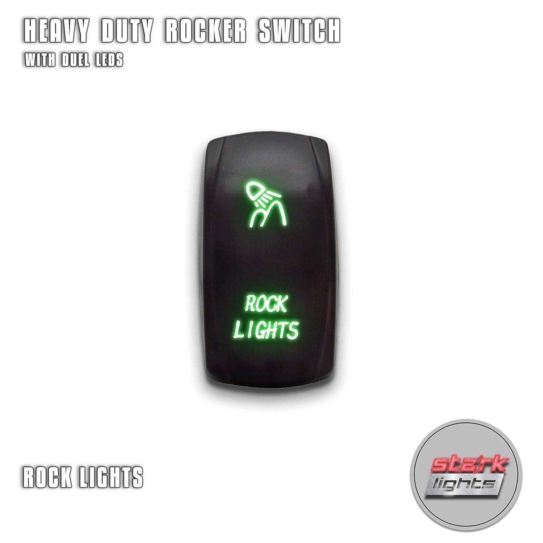 20A Green 12V MicTuning LS081302Z Rear Lights Rocker Switch ... on