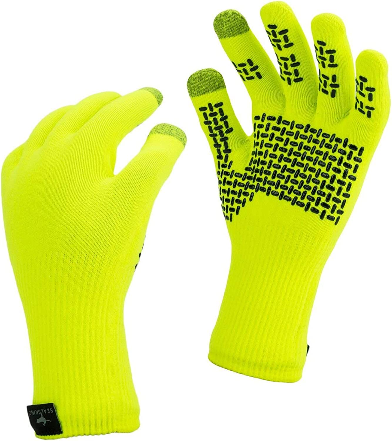 camping knitted with added grip /& touchscreen function suitable for walking hiking SealSkinz 100/% Waterproof Glove fishing and activities in All Weather conditions Windproof /& Breathable
