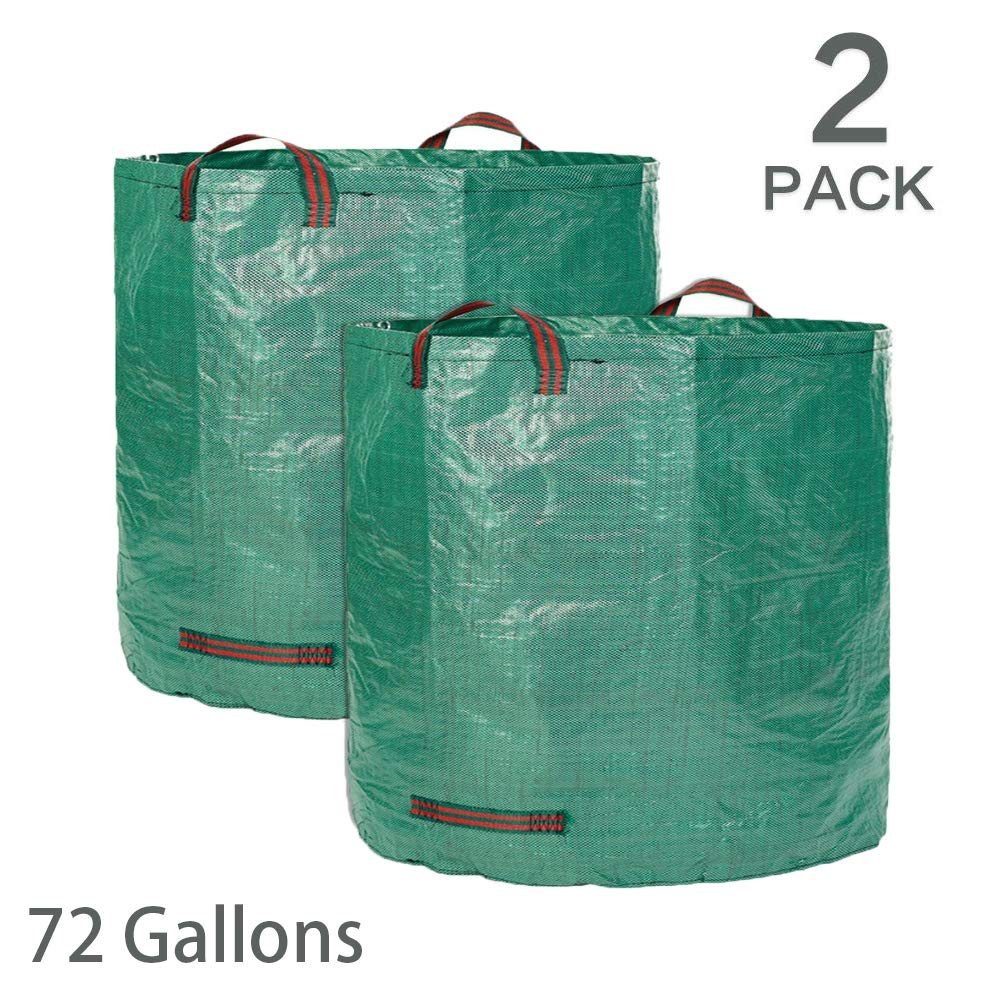 JLMAX Durable 2-Pack 72 Gallons Resusable Garden Bag,Heavy Duty Gardening Bags Durable & Multipurpose Lawn Pool Garden Leaf Waste Bag by JLMAX