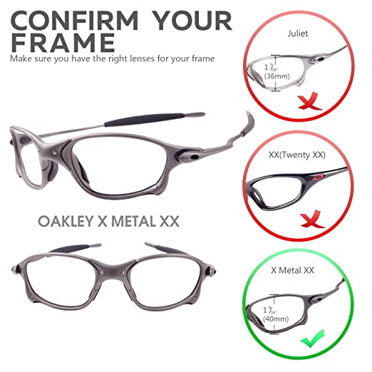 oakley x metal xx  Amazon.com : Walleva Replacement Lenses for Oakley X Metal XX ...