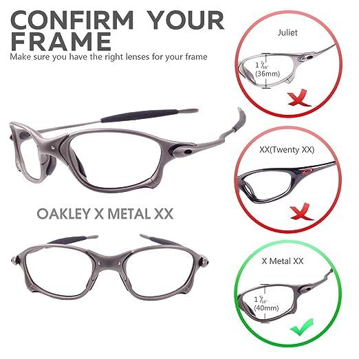New Walleva Polarized Titanium + Black Lenses For Oakley X Metal XX at  Amazon Women s Clothing store  Sports Fan Shot Glasses 815c283a6a