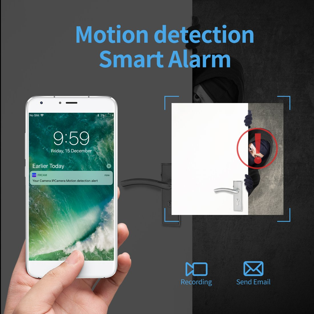 Hidden Camera,FREDI Spy Camera 720P Wireless WiFi IP Cameras Home/Office Security Mini Portable Covert Nanny Cam Works for iPhone iOS/Android mobilephone by FREDI (Image #4)
