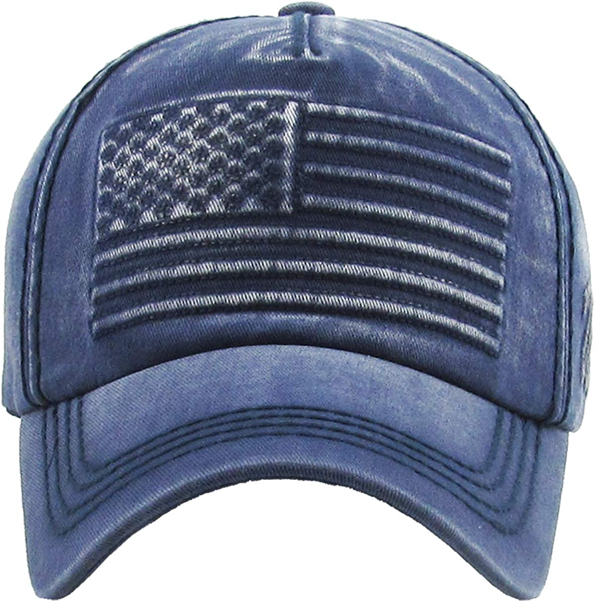 5737a26ccd4 KBVT-1029 BLK America USA Vintage Distressed Dad Hat Baseball Cap Adjustable   Amazon.ca  Sports   Outdoors