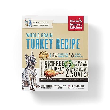 Superior Honest Kitchen The Human Grade Dehydrated Organic Grain Turkey Dog Food, 4  Lb   Keen