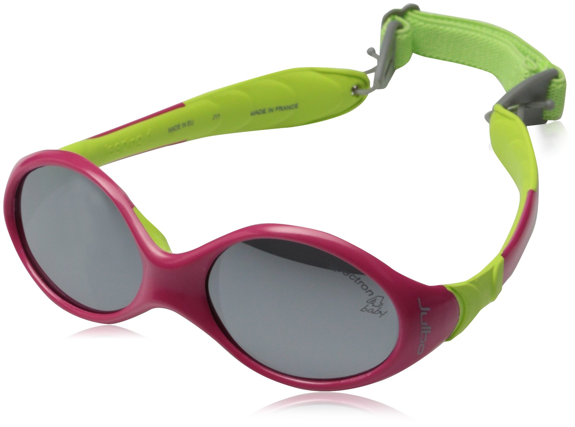 Julbo Looping I Baby Sunglasses, Spectron 4 Baby Lens, Fuschia/Lime Green, 0-18 months