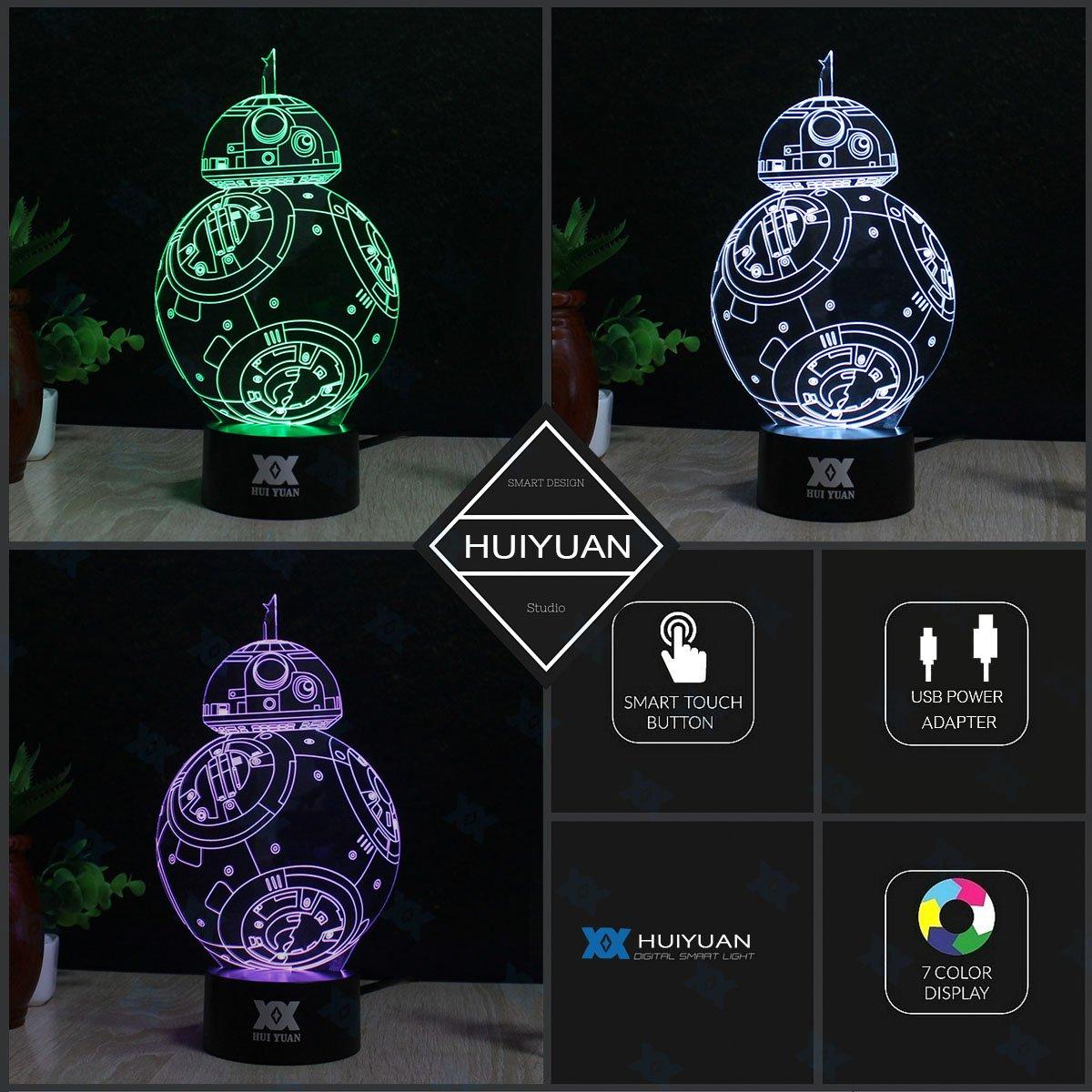 3D Lamp Fuwa Force Awaken Night light 7 Color Change Best Gift Night Light LED Desk Table Lighting Home Decoration Toys…