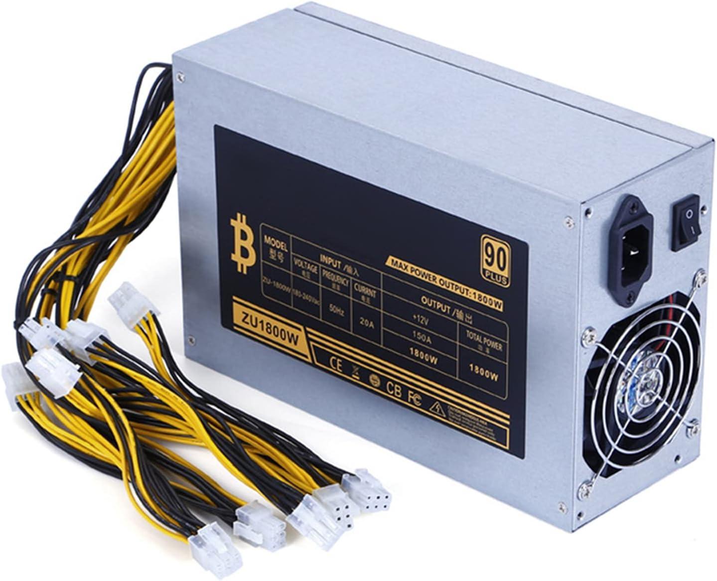 Hotar Bitcoin Mining Machine - Fuente de alimentación para BTC ETH Antminer S7, S9 y D3 (1800 W)