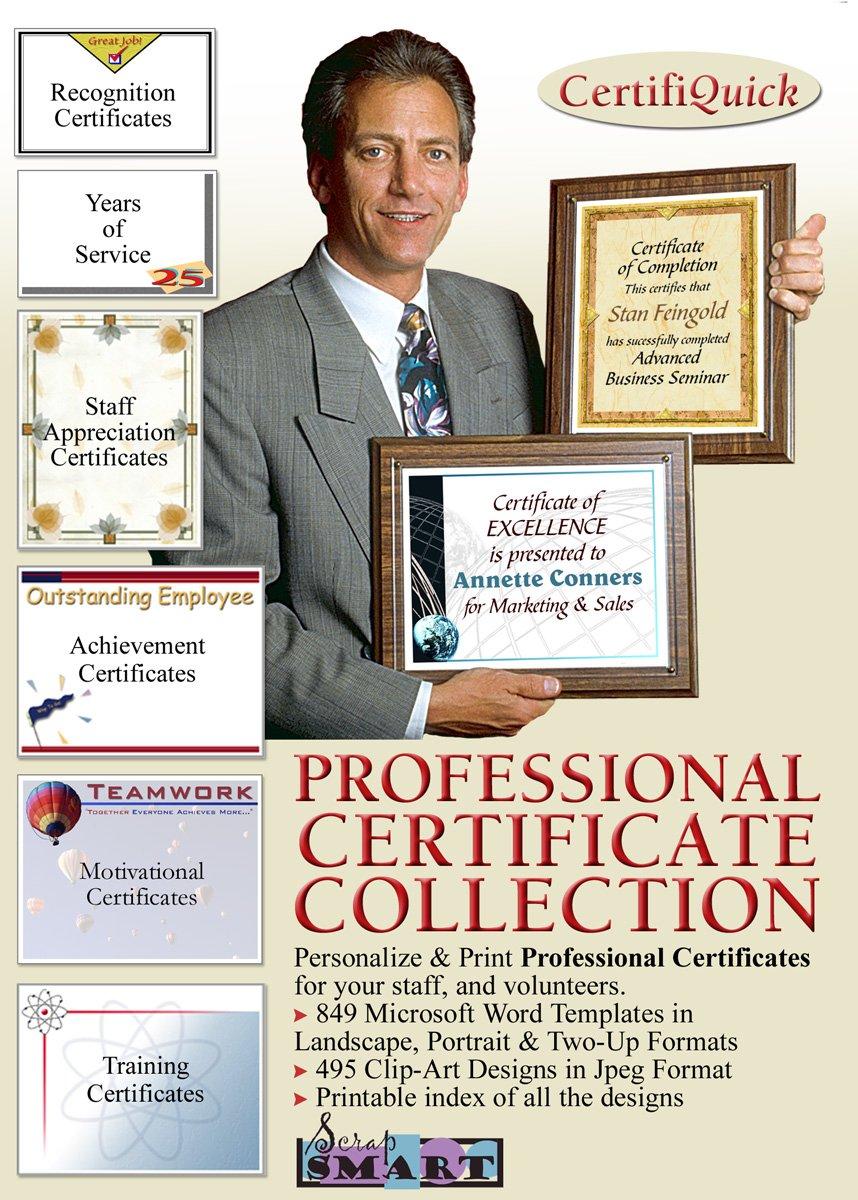 ScrapSMART - CertifiQuick - Professional Certificate - Software Collection - Jpeg & Microsoft Word files [Download] by ScrapSMART