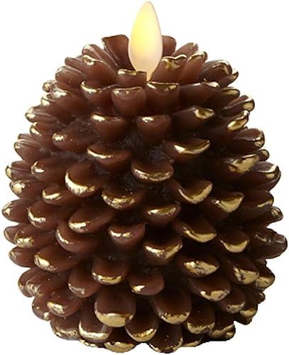 Luminara Real Wax Flameless LED Moving Flame 4 Pinecone- Brown