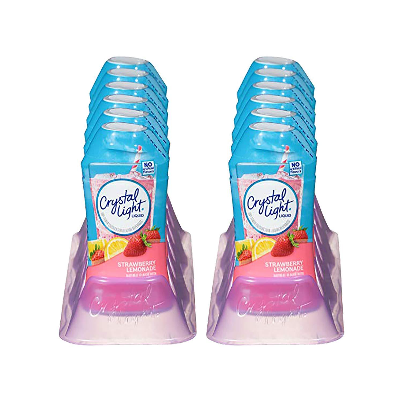 Crystal Light Liquid Drink Mix, Strawberry Lemonade, 1.62 OZ (Pack of 12)