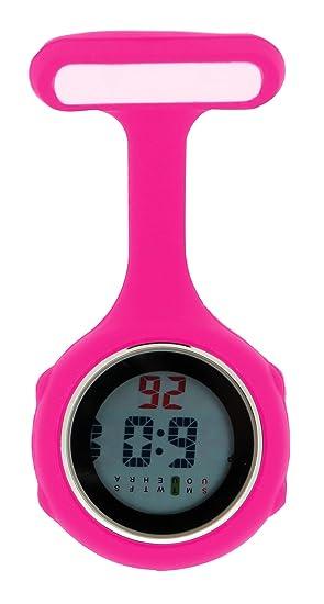 Ellemka JCM-330 Reloj de Enfermera Digital Movimiento de Cuarzo Multi-Funcional Programable con la Broche FOB de Silicona Goma Doctor Para-Médico Color ...