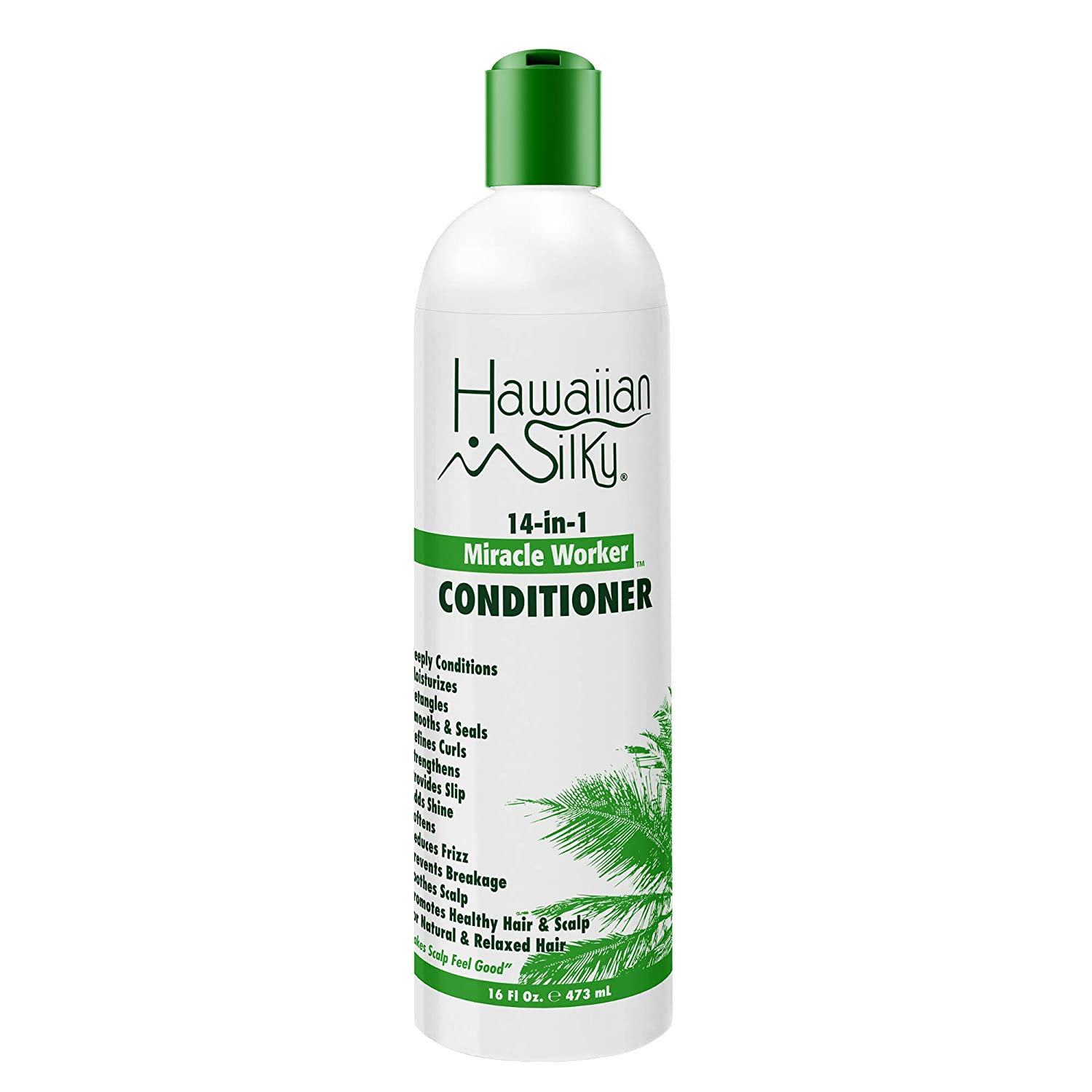 Hawaiian Silky 14-In-1 Miracle Worker Conditioner, 16 f oz - Daily Treatment for All Hair Types - Restore Chemically Damaged Hair