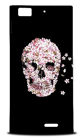 Amazon foxercases design pink floral flower skull hard back foxercases design pink floral flower skull hard back case cover for lenovo k900 mightylinksfo