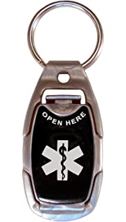 Medical Alert ID Tag, Safety, Sport and Everyday Necklace, Tag, Keychain,