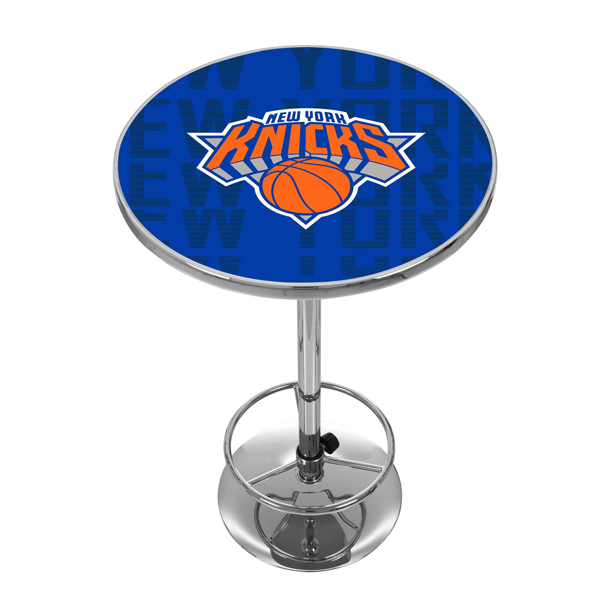 Trademark Gameroom NBA2000-NY3 NBA Chrome Pub Table - City - New York Knicks