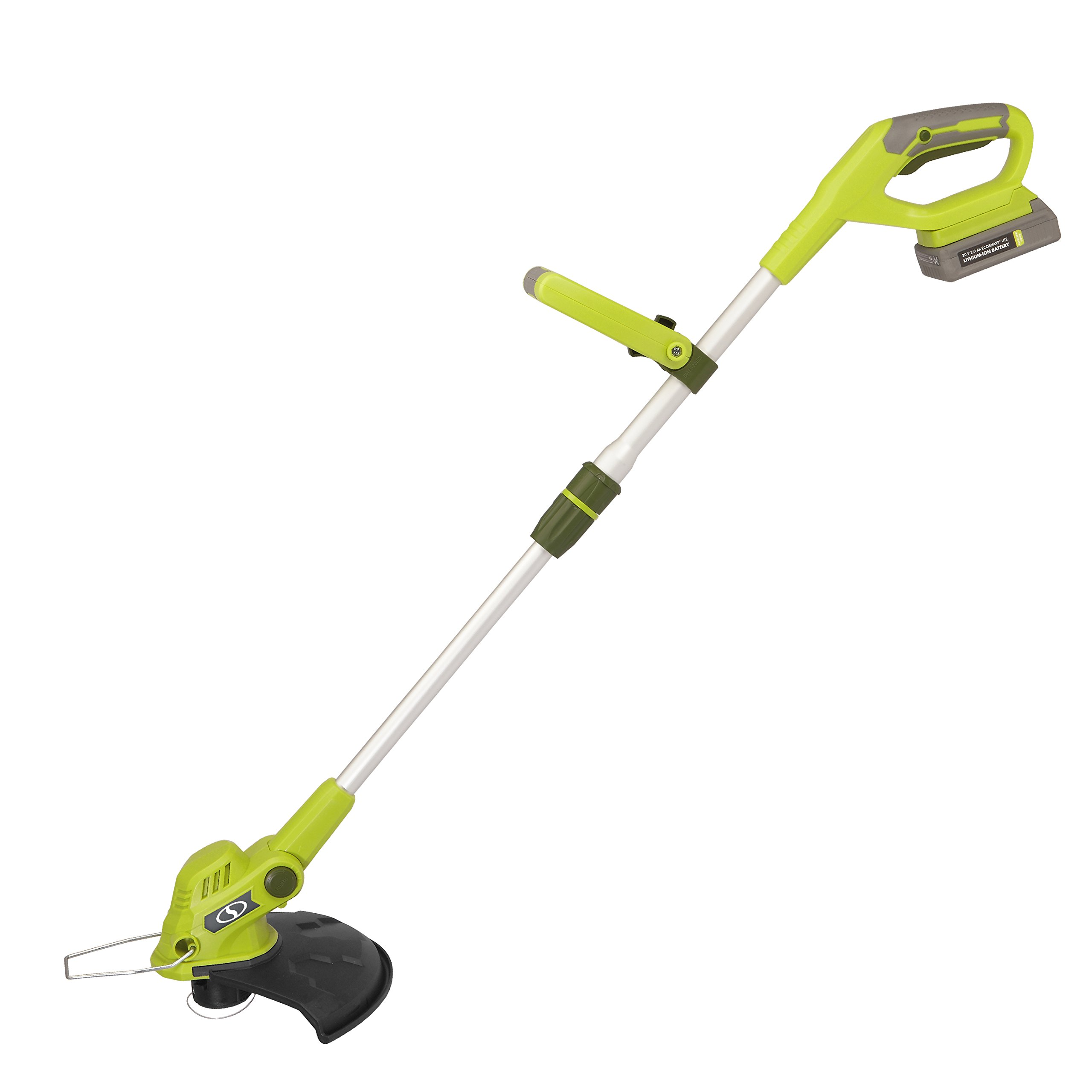 Sun Joe 20VIONLTE-ST11 Cordless Swath String Trimmer+Edger, Green