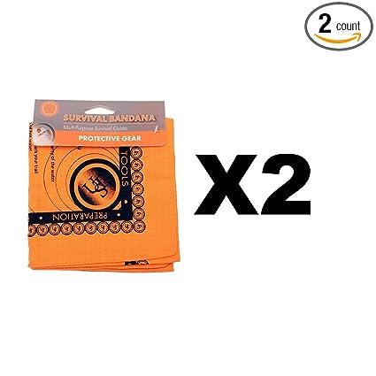 Amazon com : Ultimate Survival Technologies Bandana Orange Kerchief