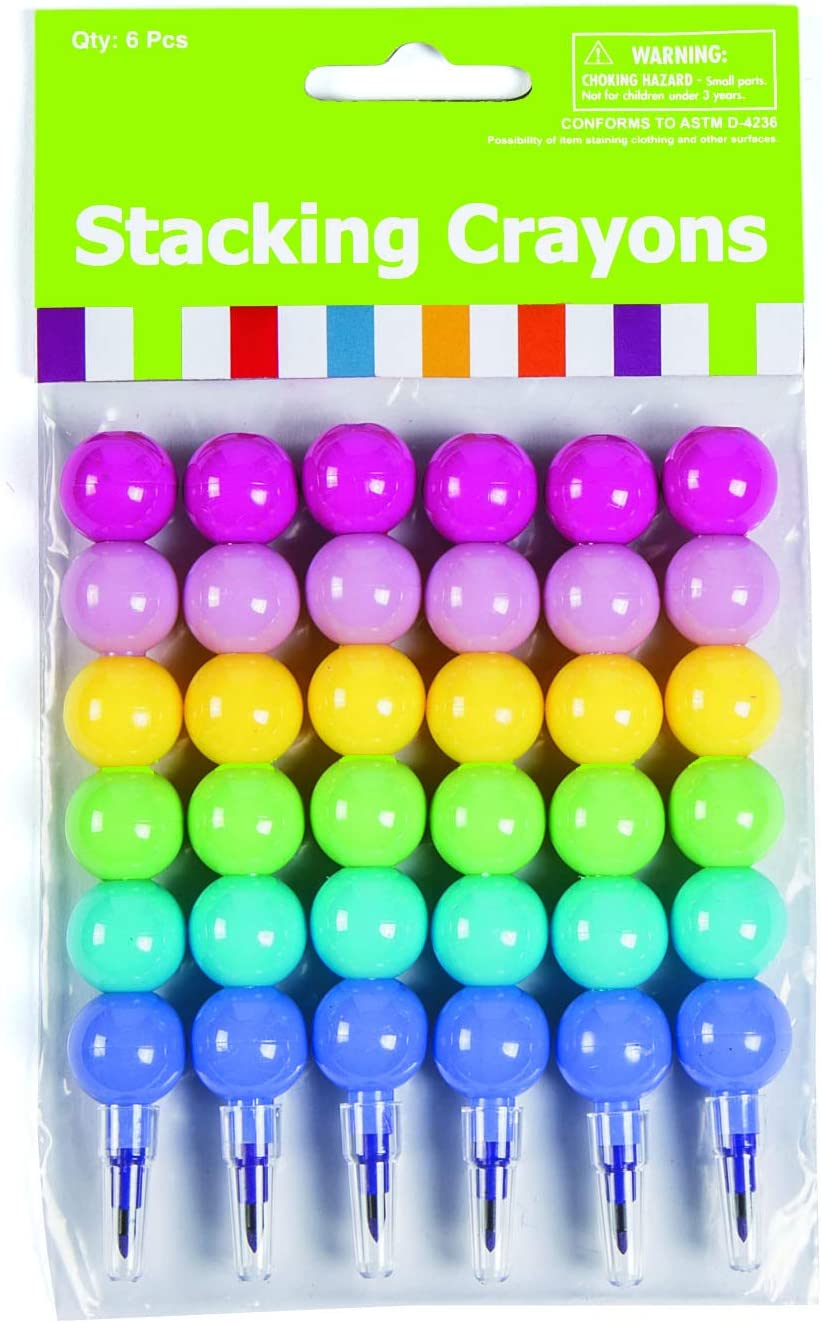 Drawing 12 Pieces Fun Express Round Stacking Crayons Crayons Basic Supplies