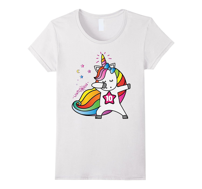 10th Birthday Shirt Birthday Girl 10 Unicorn T-Shirt July