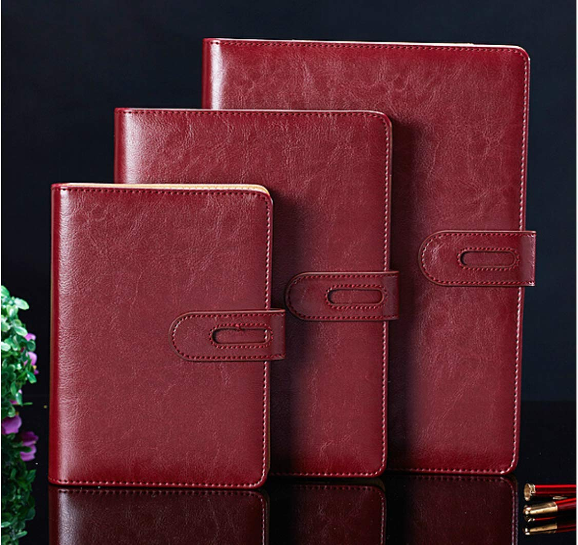 Cuaderno de anillas A6 de 6 agujeros, para negocios, de piel ...