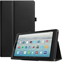 """Fintie Folio Case for All-New Amazon Fire HD 10 Tablet (7th Generation, 2017 Release) - Premium PU Leather Slim Fit Smart Stand Cover with Auto Wake / Sleep for Fire HD 10.1"""" Tablet, Black"""