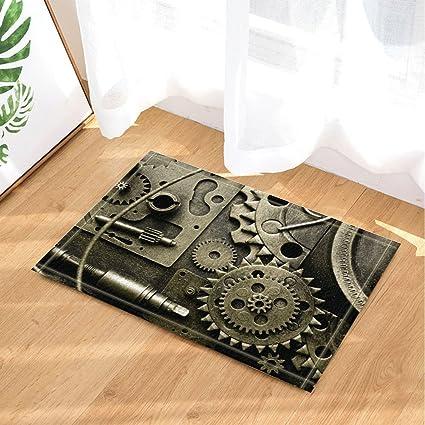 Amazon Com Industrial Revolution Decor Steam Gear Bath Rugs Non