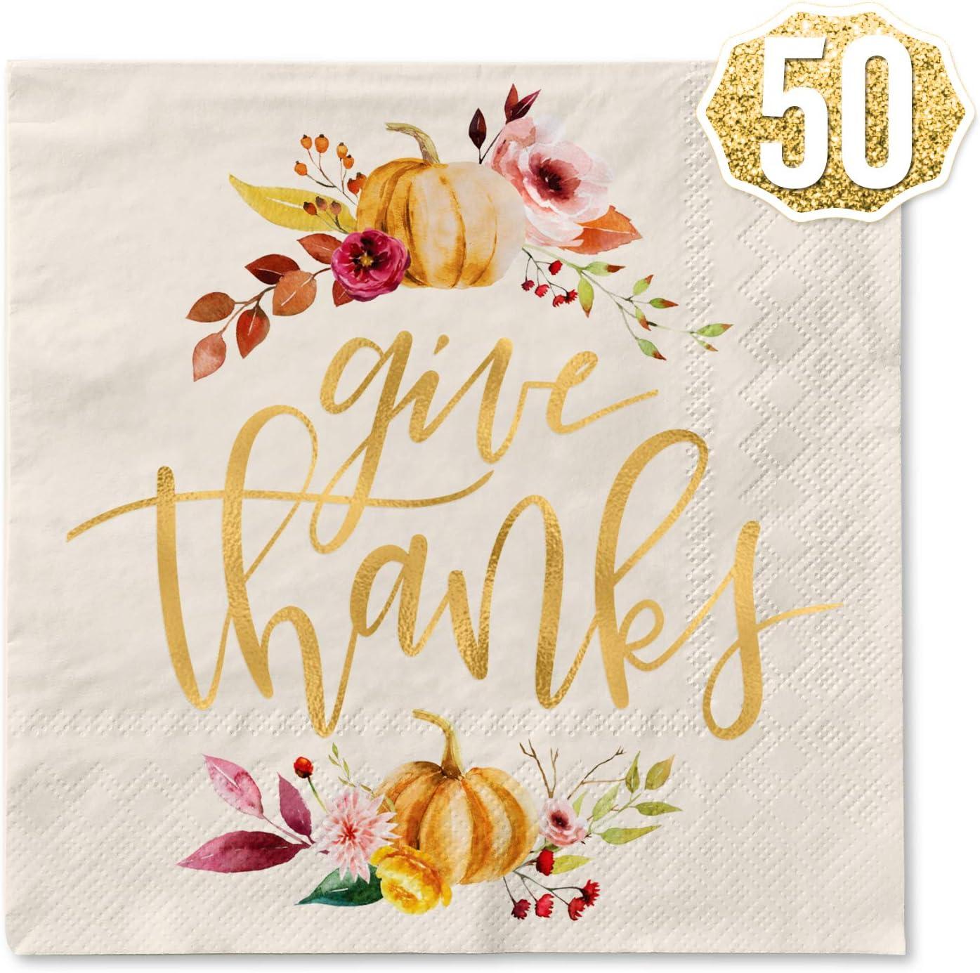 PICK 1 Fall Autumn Pumpkin Thanksgiving 16-20 Ct Paper Lunch Napkins Guest Towel