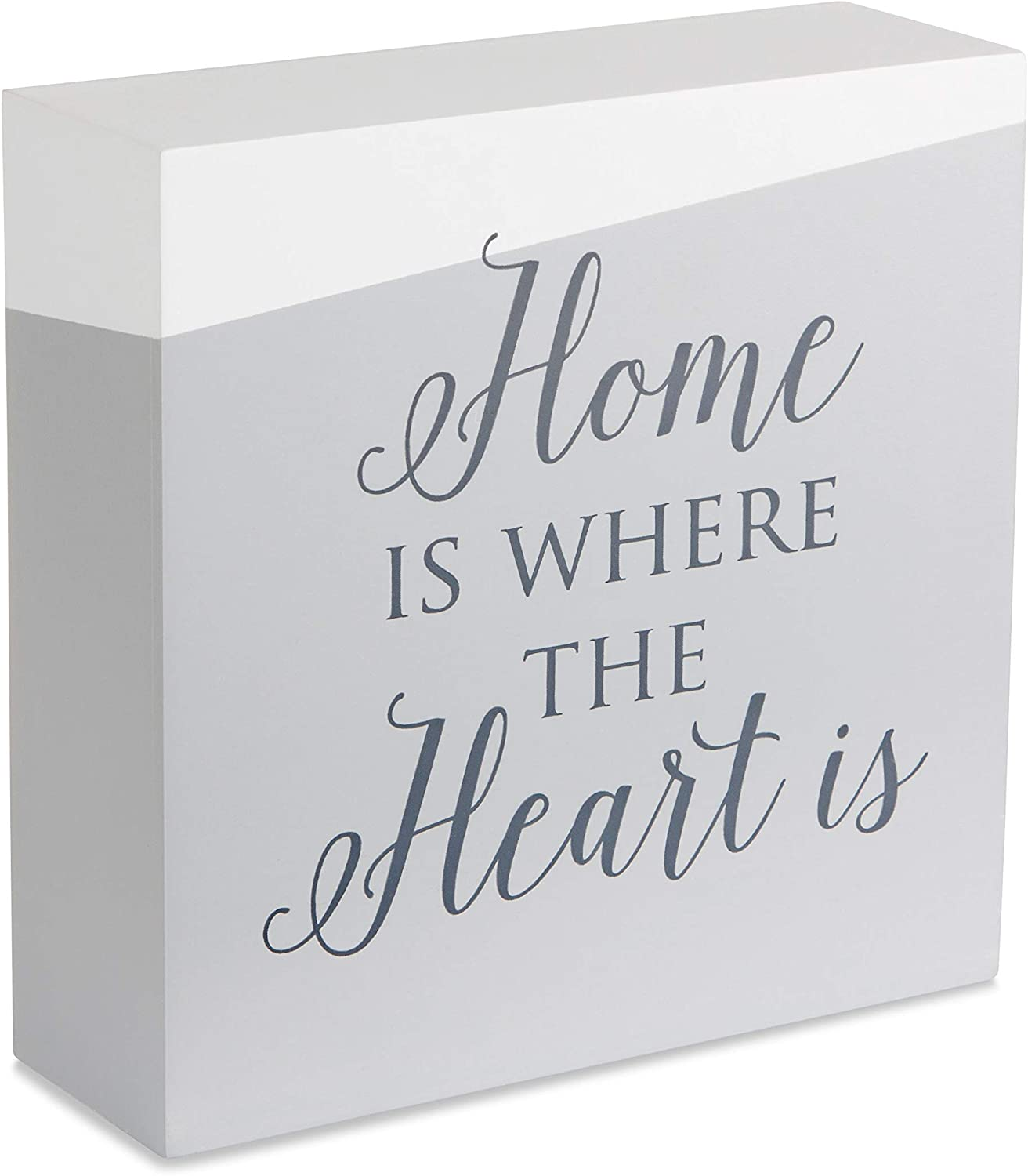 Pavilion Gift Company Self Standing Home is Where The Heart is 6 Inch Plaque
