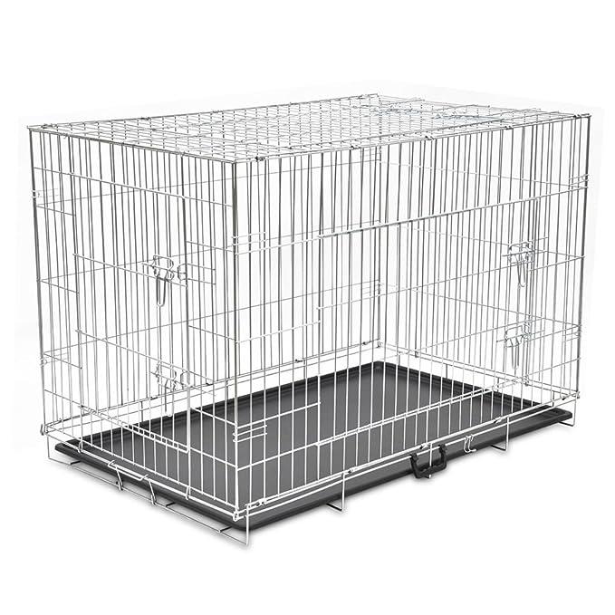 vidaXL Jaula Metálica Perro Plegable XXL Transportín Transporte Viaje Mascota: Amazon.es: Productos para mascotas