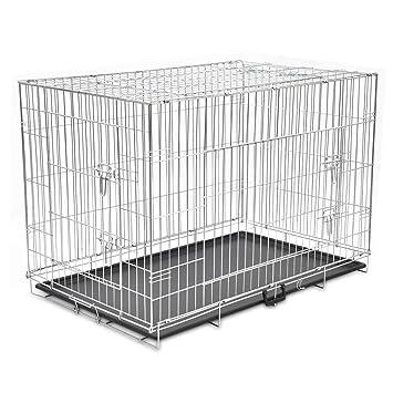 a349416edbb743 vidaXL Cage en Métal Pliable pour Chien XXL Cage de Transport Chenil Maison
