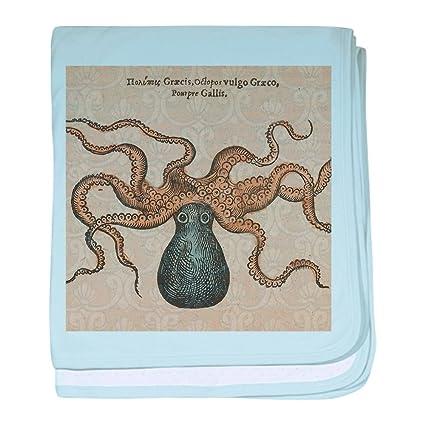 La ilustración científica pulpo Kraken CafePress bab - manta ...