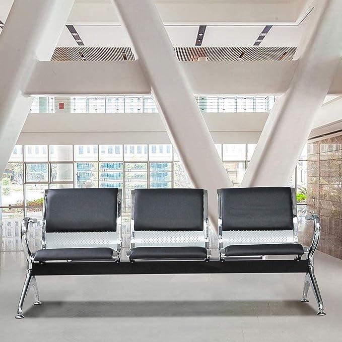 Amazon.com: Sillones de recepción de aeropuerto con cojín de ...