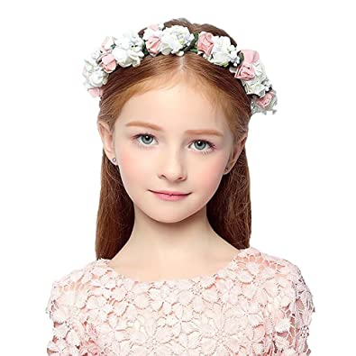 DreamYo子供 ヘアアクセサリー 結婚式 子供用 髪飾り 女の子 キッズ 髪飾り ウェディング フラワー