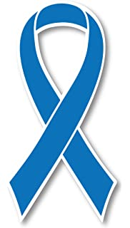 Amazon Com 40 Dark Blue Ribbon Temporary Tattoos Colon Cancer Awareness Tattoo Health Personal Care