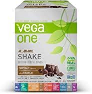 Vega One All-in-One Plant Based Protein Powder Chocolate (10 Count, 1.5 oz) - Plant Based Vegan protein, Non Dairy, Gluten Fr