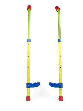 Small Foot 10866 Kinderstelzen mit sicheren Fußstützen aus stabilem Material, höhenverstellbar bis ca. 90cm, gepolsterte Hand