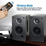 1byone Powered Wireless Classic Bookshelf Speaker